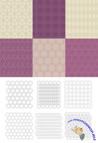 White Circles Brushes Set for Photoshop