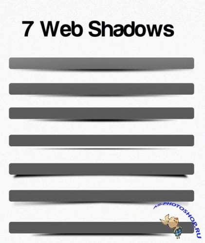 PSD Template - 7 Web Shadows