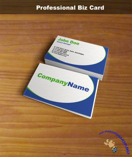 PSD Template - Professional Blue Business Card