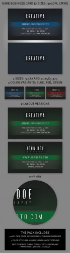 PSD Template - Exclusive Datk Business Card