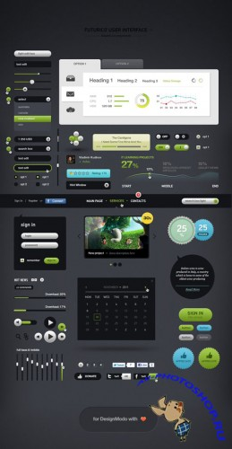 PSD Template - User Interface Web Elements