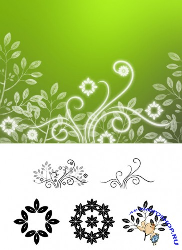 Pretty Garden Brushes Set for Photoshop