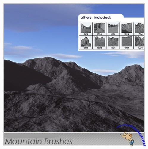 Mountain Brushes Set for Photoshop