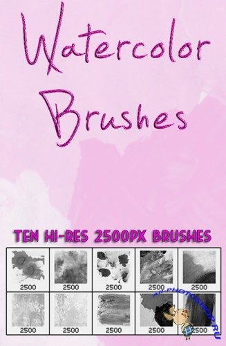 Watercolor Brushes Set for Photoshop