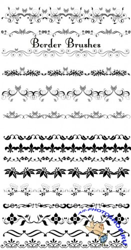 Elegant Border Brushes Set for Photoshop