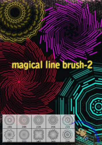 Magical Lines Brushes for Photoshop