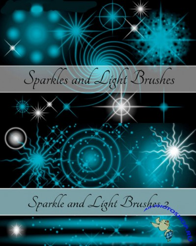 Sparkle and Light Brushes Set for Photoshop