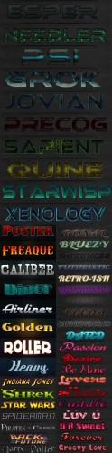 New Collection Text Photoshop Styles