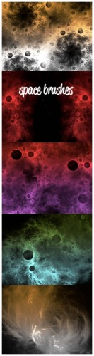 Space Brushes Set for Photoshop