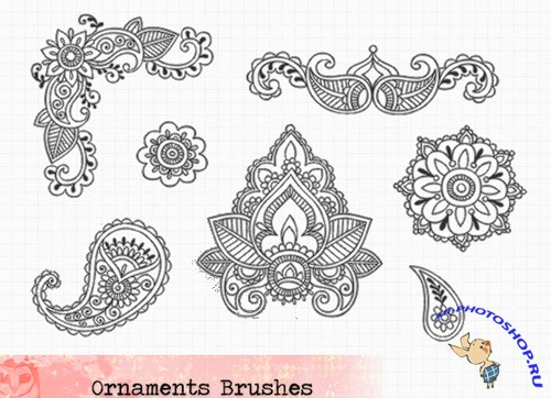 Ornaments Brushes Set for Photoshop