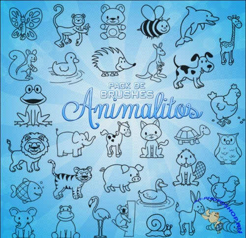 Pack De Brushes Animalitos for Photoshop