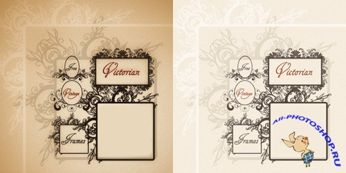 Victorian Vintage Frames Brushes for Photoshop