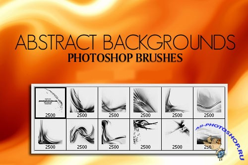 Abstract Background Brushes Set for Photoshop