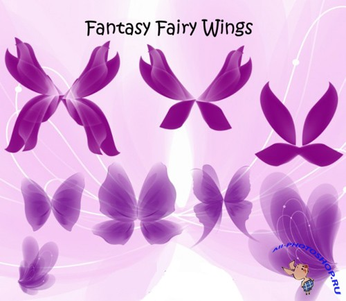 Fantasy Fairy Wings Set for Photoshop