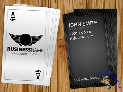 PSD Template - Playing Business Card (REUPLOAD)