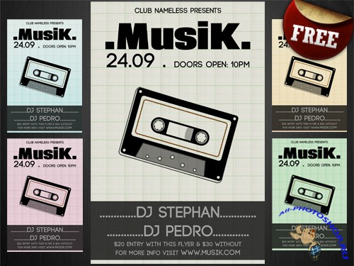 PSD Template - Musik Club Party/Flyer (REUPLOAD)