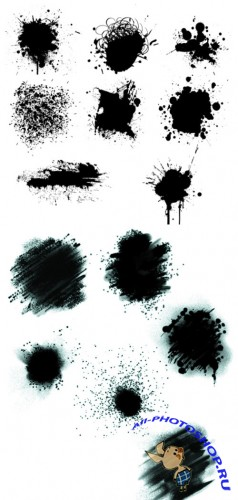 Paint Spatter Brushes set for Photoshop