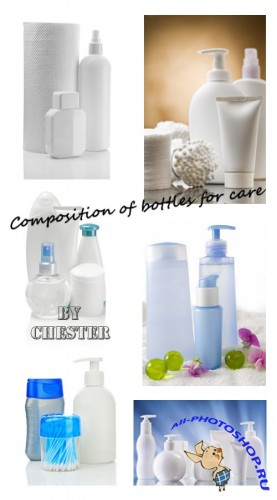 Composition of bottles for care