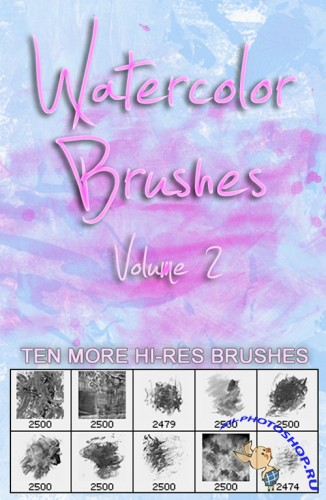 Watercolor Brushes Vol.2 for Photoshop