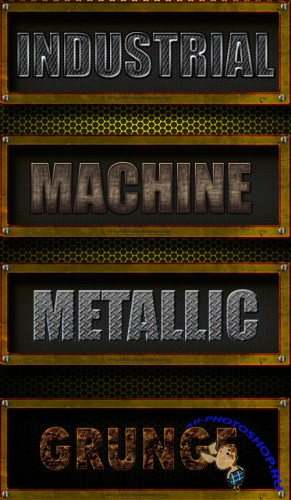 Metal Text Styles for Photoshop