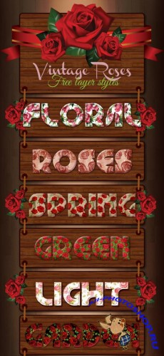 Vintage Roses Text Styles