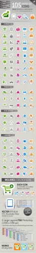 GraphicRiver - 105 Papercut Icons 1241350