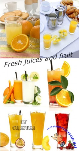 Fresh juices and fruit