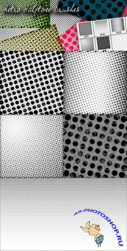 Retro Halftone Brushes for Photoshop