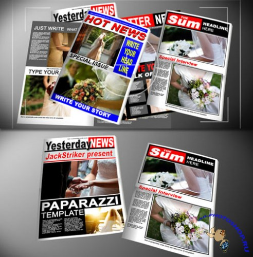 Videohive - Paparazzi Tabloid Newspaper 118929 - Projects for After Effects