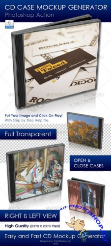 GraphicRiver - CD Case Mockup Generator 80439