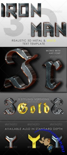 GraphicRiver - Iron Man 3D Text Template 245410
