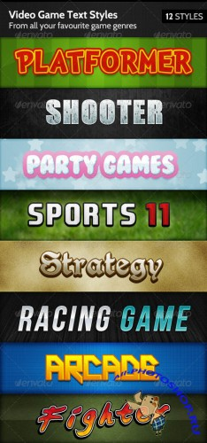 GraphicRiver - Video Game Text Styles 144135