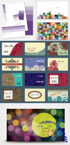 Vintage Business Cards Collection for Photoshop