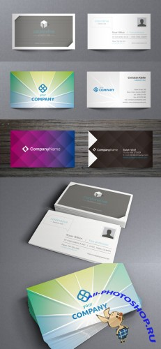 Modern Vector Business Cards pack 3 for Photoshop