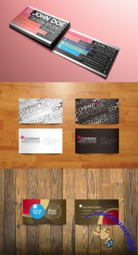 Modern Vector Business Cards pack 2 for Photoshop
