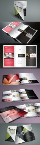 Catalog Fashion and Trifold Corporate Brochure Template for Photoshop