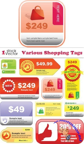 Various Shopping Tags Vector