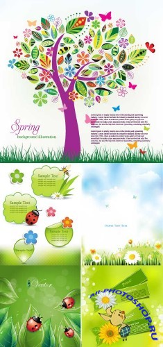 Spring Backgrounds Vector 3