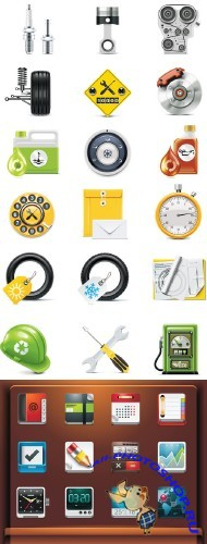 Stock: Collection of vector elements and icons