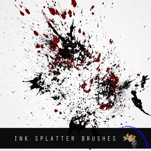 Ink Splatter Brushes for Photoshop
