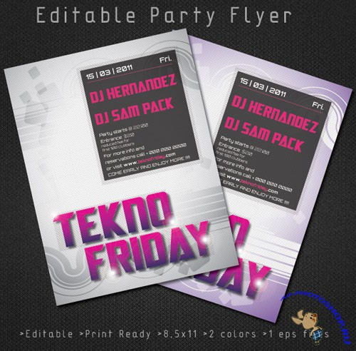 Minimalistic Party Flyer/Poster PSD Template