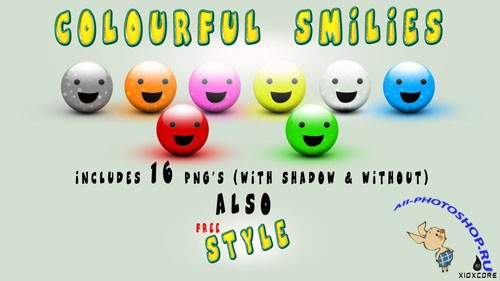 Colourful Smilies Pack