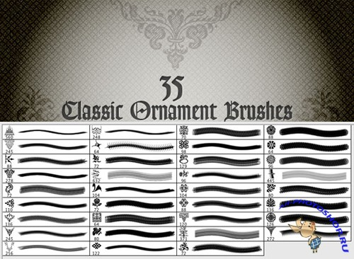 Classic Ornaments Brushes for Photoshop