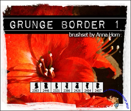 Brushes for Photoshop - Grunge Border Pack 1