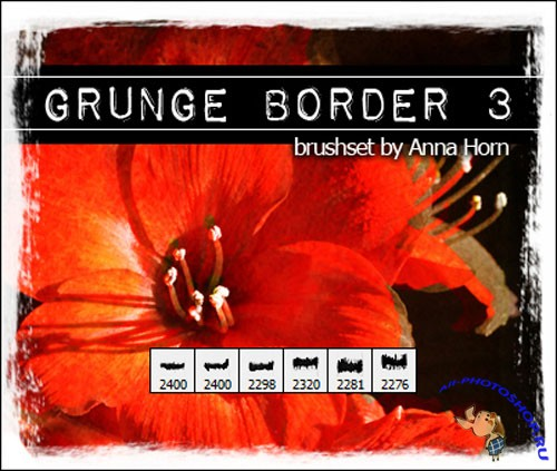 Brushes for Photoshop - Grunge Border Pack 3