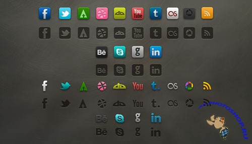 PSD Template - Socialis Media Icon