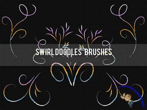 Brushes for Photoshop - Swirl Doodles