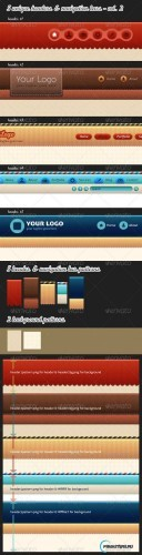 GraphicRiver 5 Unique Web Headers & Navigation Bars - vol. 2