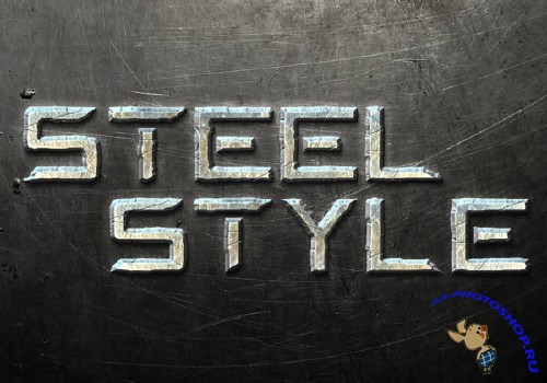 Steel Text Effect for Photoshop