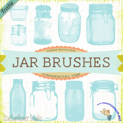 Vintage Jars Brushes 1